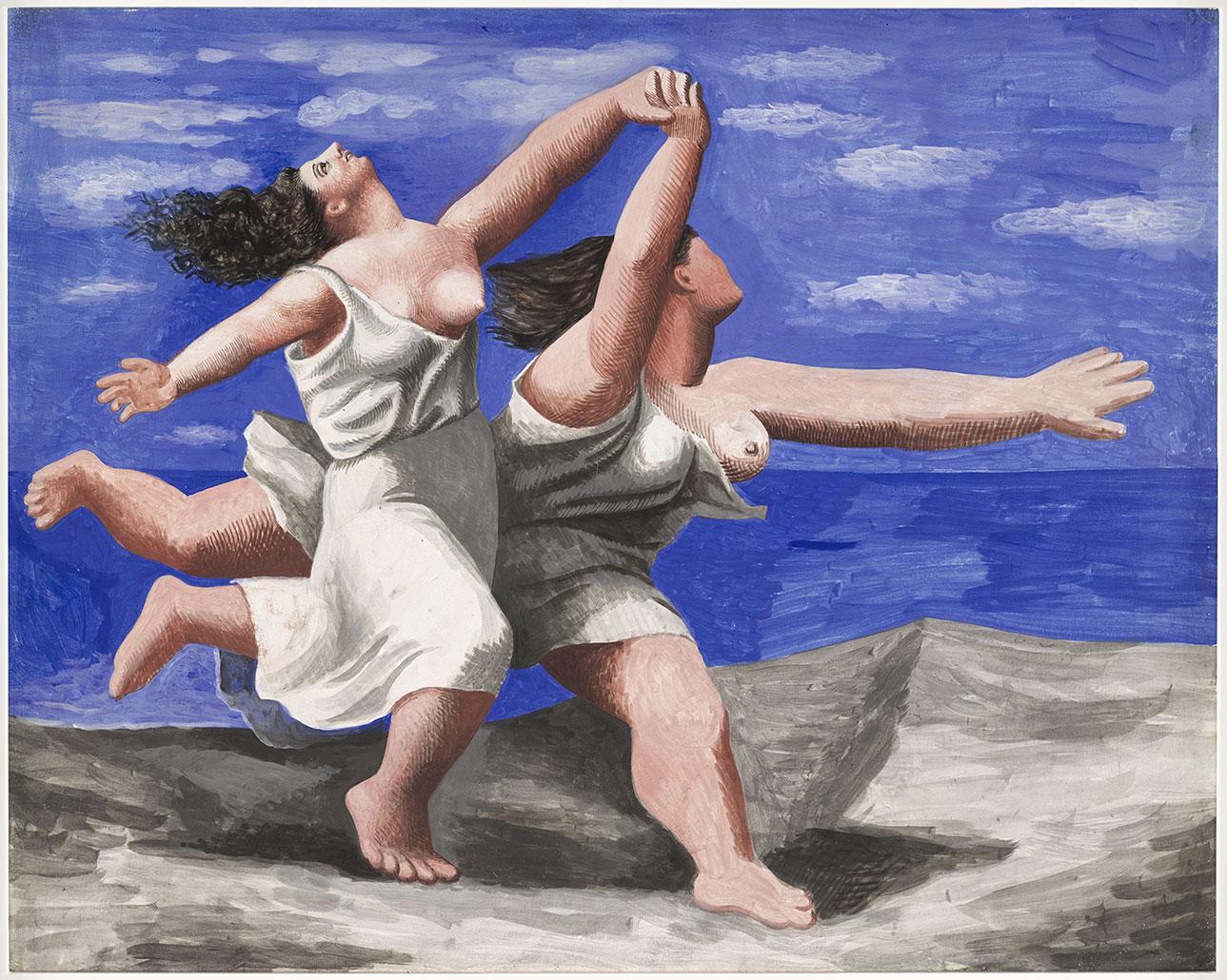 ピカソ-ビーチで走っている2人の女性-MP78-17-554081